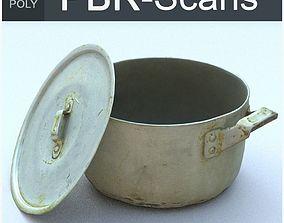 3D asset Saucepan Low Poly