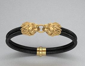 Leo bracelets 3D printable model leather-bracelets