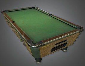 Pool Table - DVB - PBR Game Ready 3D model