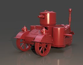 Steampunk Tank High Poly Version 3D