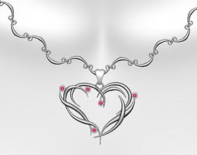 engagement Necklace 3D model low-poly