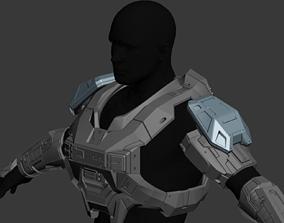 Reach Mjolnir MkV Shoulder Wearable 3D Print Model