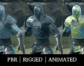 3D asset animated game-ready Medieval Knight