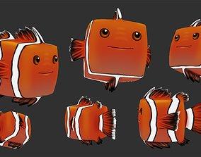 3D model Cubey Fish Pet - Ocellaris clownfish