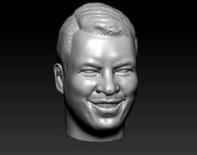 3D print model male head 25