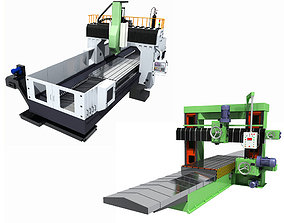 3D Collection of Milling machines