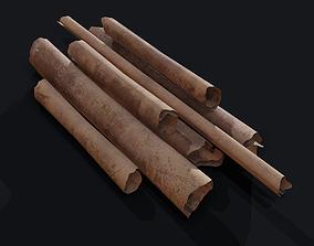 Scrolls Pile 3D model