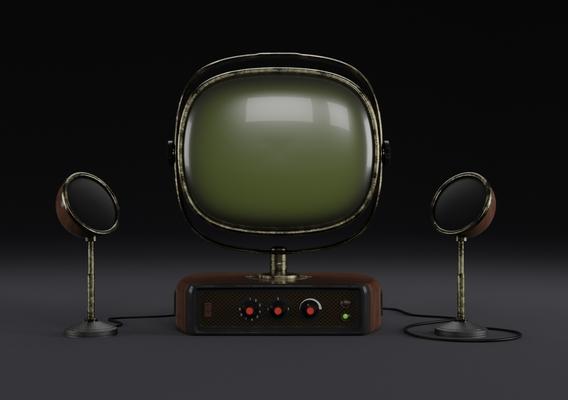 Old look TV set