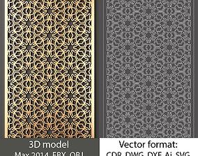 Decorative panel 148 3d model and vector format