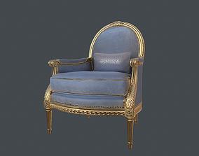 Vintage Chair 3D model VR / AR ready