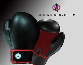 Boxing Glove-Black 3D asset