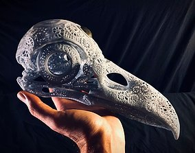 3D print model Filigree Anatomical Raven Skull - 1