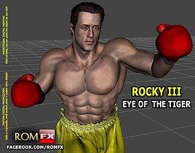 ROCKY III - Sylvester Stallone Printable Figure Eye of 1