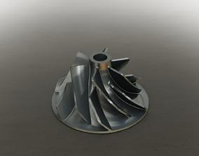 3D printable model Turbocharger Compressor Wheel