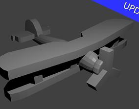British Fairey Swordfish Torpedo Bomber 3D print model