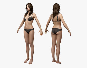 3D model rigged Woman body