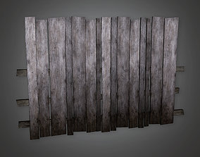 3D asset realtime Outdoor Fence 03 GFS - PBR Game Ready