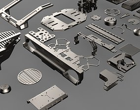 3D model Hard surface Kitbash library technical part