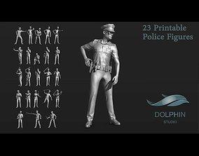 23 Police Figure Set 02 3D print model