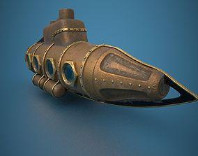 3D model Submarine Steampunk PBR low poly