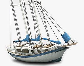 3D asset Sailboat 2