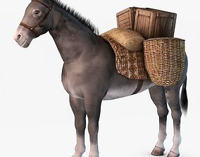 Loaded Pack Donkey 3D model