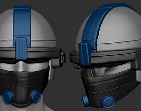 High quality scifi helmet high poly sculpt 1