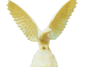 3D Decorative Hawk Figurine