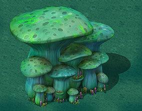 toon Edition - Ancient Nu Wa Mushroom Fossils 01 3D model
