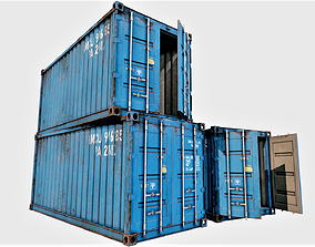 Enterable Shipping Container 03 - PBR 3D asset