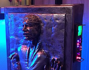 Solo in carbonite HQ 3D printable 1-4 Scale 62cm