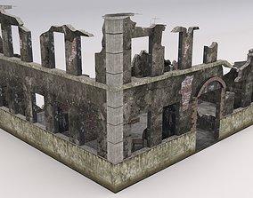 Ruined Damaged Building 1 3D asset