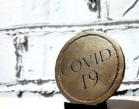 Covid coin 3D print model