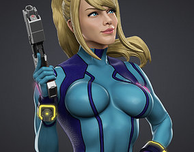 Samus Zero suit 3D Model