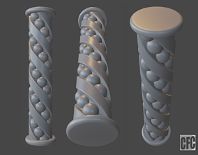 Goth shaft - 3d model for CNC - GothShaftCFC02
