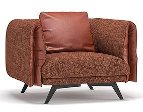 3D model Bonaldo Saddle armchair