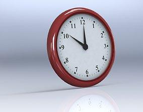 Wall Clock analogue 3D rigged