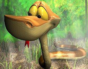 Cartoon Snake RIGGED 3D model