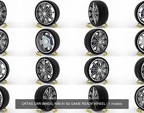 ORTAS CAR WHEEL RIM 81-82 GAME READY WHEEL 3D
