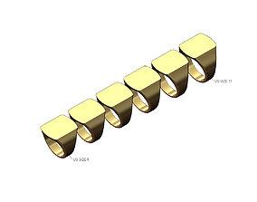 Dogtag slot shaped signet ring US size 3D print model