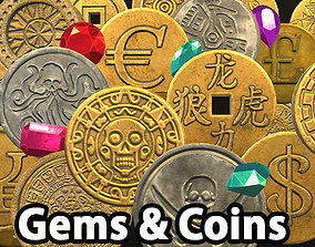 3D model Ultimate Gems and Coins pack