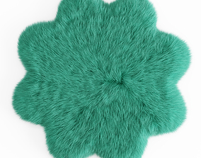 3D Sheepskin Flower Shaped Carpet Fur
