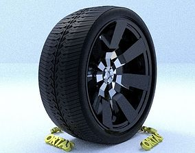 3D ORTAS CAR RIM 13 GAME READY RIM TIRE AND DISC