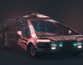1982 2019 Blade Runner Ground Police Car 3D asset
