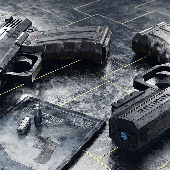 Sci-Fi Handgun