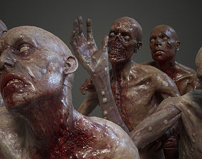 3D model Shirtless Zombies Pack