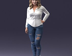 Girl in jeans 1121 3D Print Ready powder