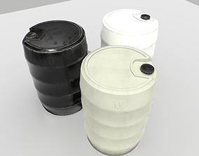 3D model Plastic Barrel 4
