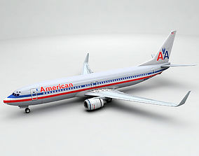 Boeing 737-800 NG Airliner - American Airlines 3D asset