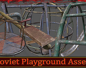 Soviet Oldschool Playground 3D model